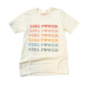 The Funnel Cake Tree Pastel Rainbow Girl Power Tee