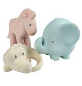 Tikiri Toys Marshmallow Soft Nat. Rubber Rattles Set