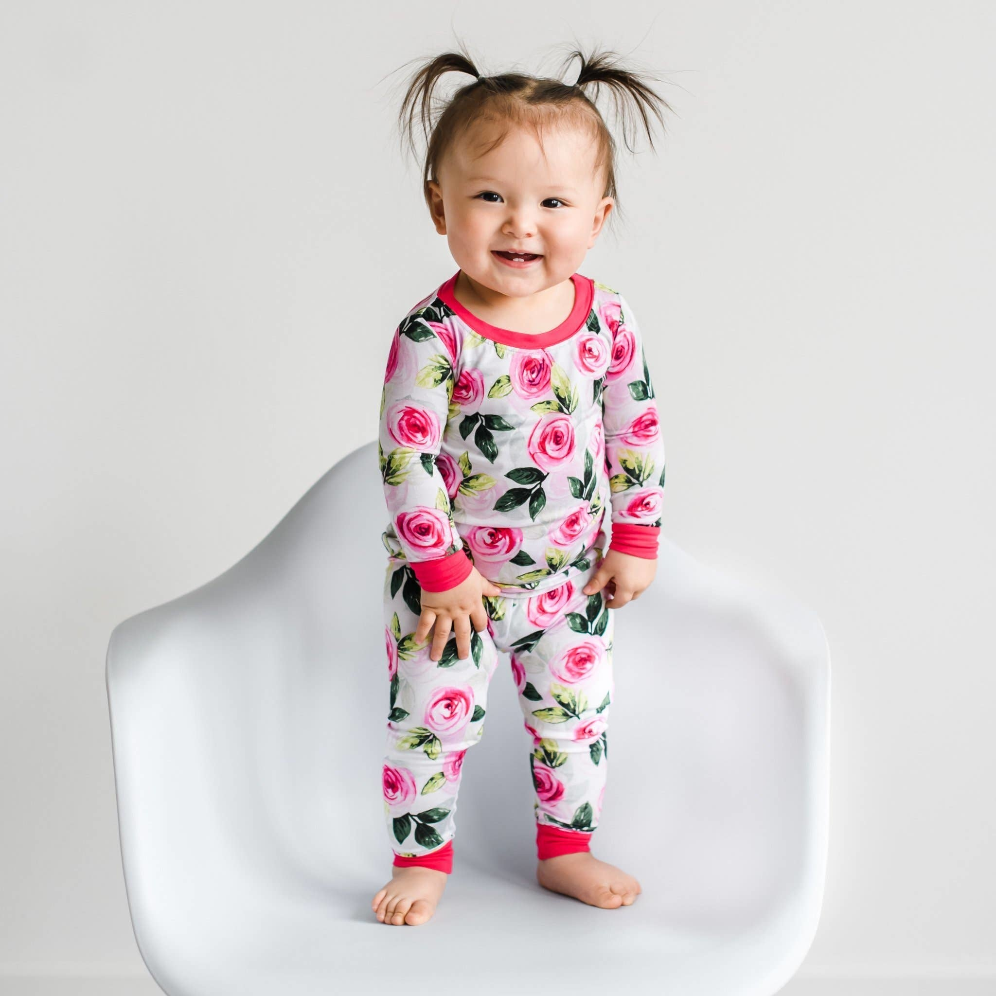 Little Sleepies Two Piece Bamboo Pajama- Roses