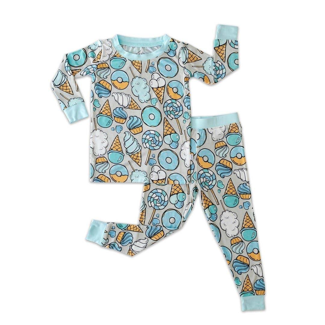 Little Sleepies Two Piece Bamboo Pajama- Gray Sweet Treats