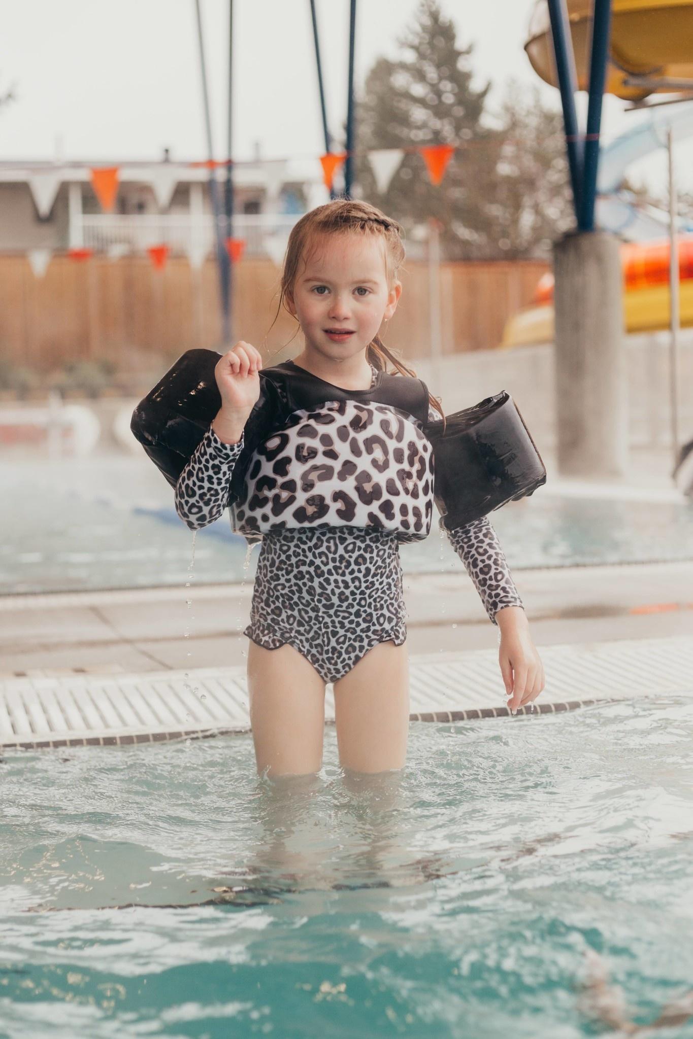 Current Tyed Clothing The Shae Ruffle Rashguard Swimsuit