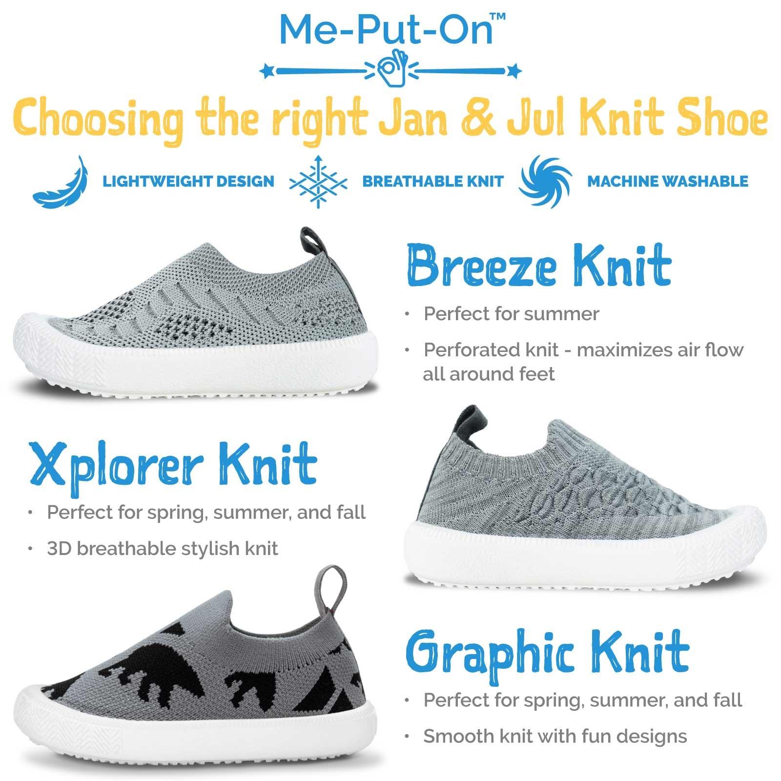 Jan & Jul Kids Breeze Knit Shoe- Purple