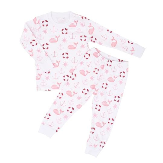 Sammy+Nat Pink Nautical Pajama Set