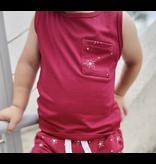 Little Bipsy Star Pocket Tank- Red