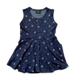 Little Bipsy LB Star Swoop Dress- Navy