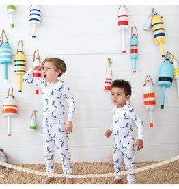 Sammy+Nat Atlantic Whale Flag Pima Pajama