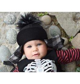 George Hats Solid Black Pom Hat- Child Size