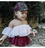George Hats Plum Floral Trucker