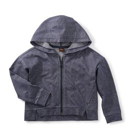 Tea Collection Denim Like Zip Hoodie