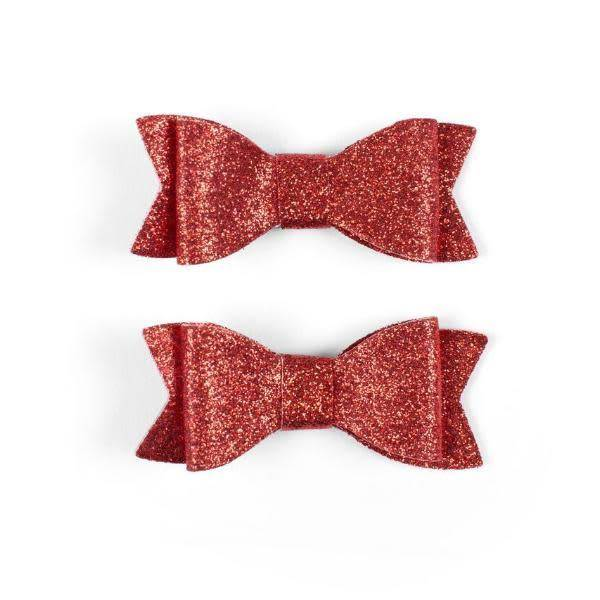 Baby Bling Glitter Bow Tie Clips