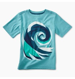 Tea Collection Crashing Wave Graphic Tee Size 4