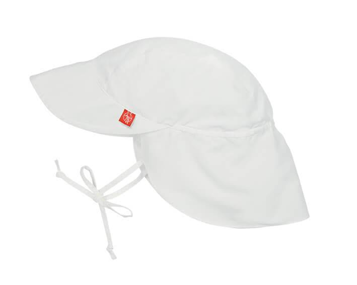 Sun Protection Flap Hat- White