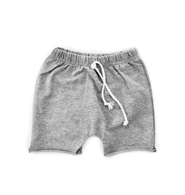 Little Bipsy Raw Edge Harem Shorts- Grey