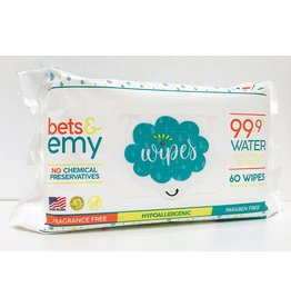 Bets & Emy Baby Wipes- 60 count