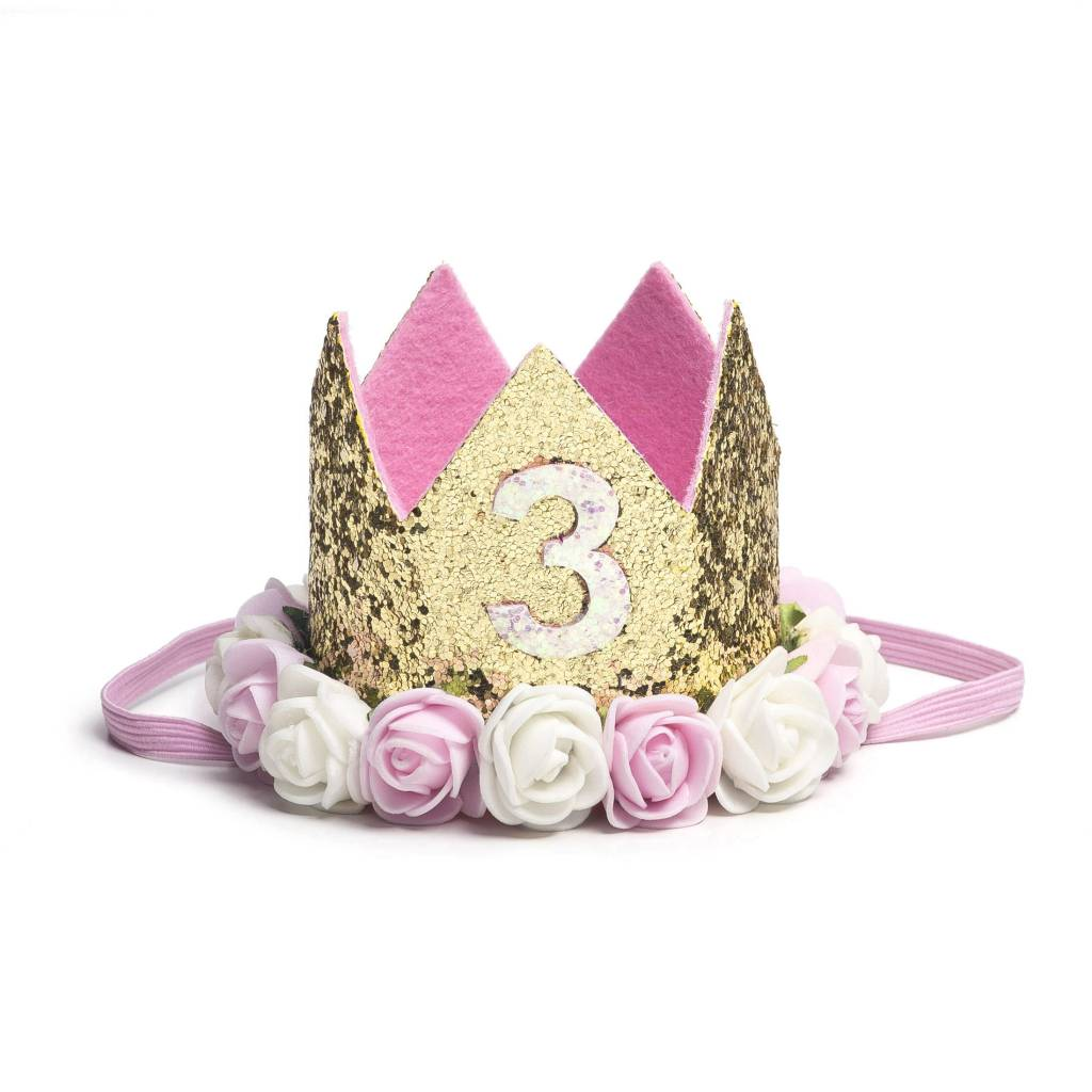 Sweet Wink Gold Blush #3 Flower Crown