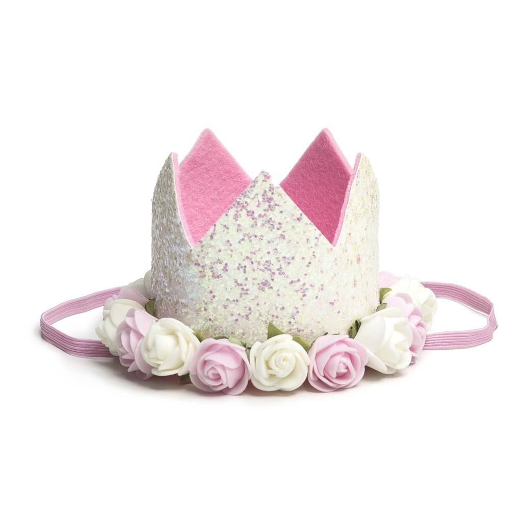 Sweet Wink White Flower Crown