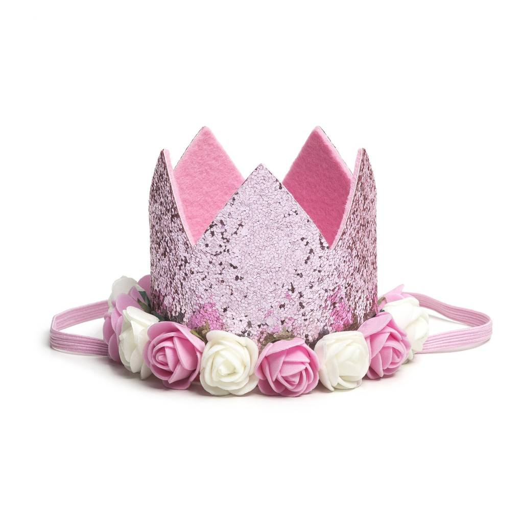Sweet Wink Pink Flower Crown