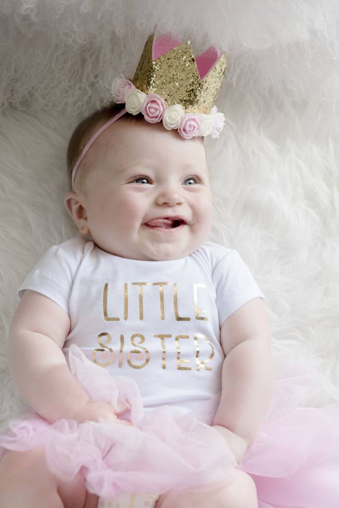 Sweet Wink Gold Blush Flower Crown