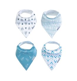 Little Kims Frequent Flyer Organic Bandana Bibs