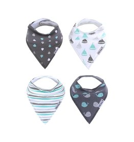Little Kims Happy Waves Organic Bandana Bibs