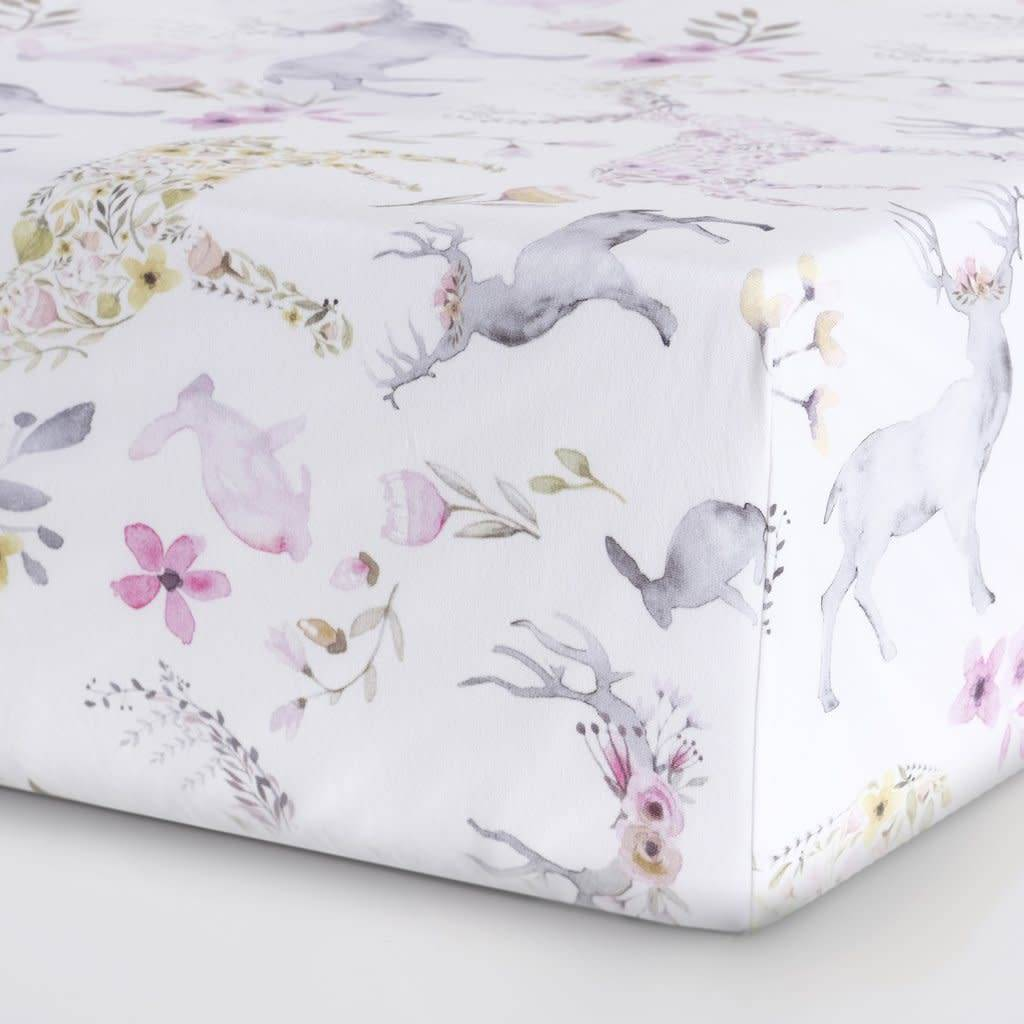 Oilo Fawn  Jersey Crib Sheet