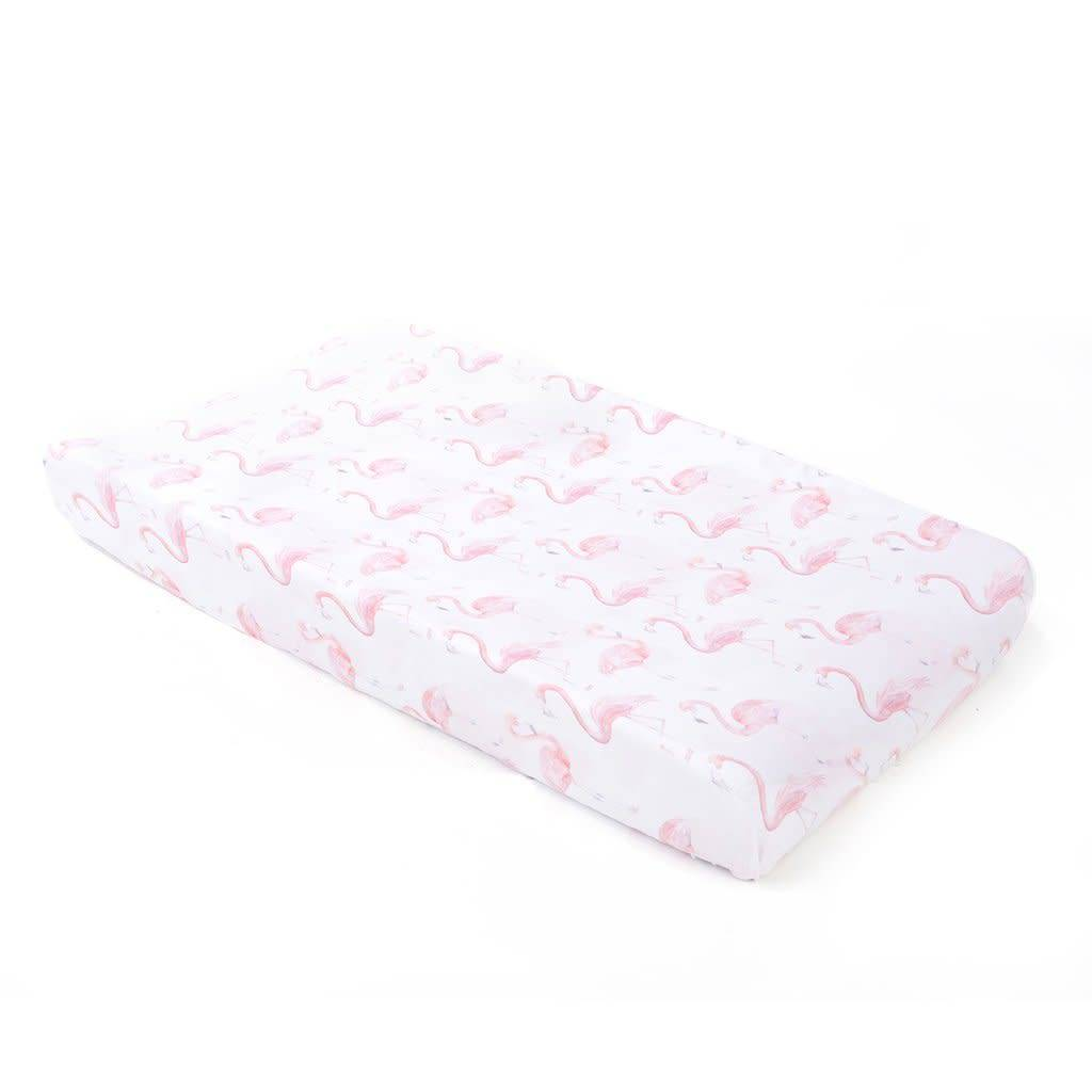 Oilo Flamingo Jersey Changing Pad Cover