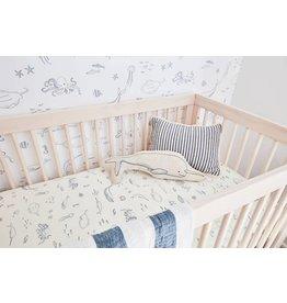Pehr Designs Life Aquatic Crib Sheet- Blue