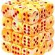 Chessex Dice d6 (36 Dice) - Sunburst w/ Red