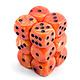 Chessex Dice d6 (12 dice) - Orange/black