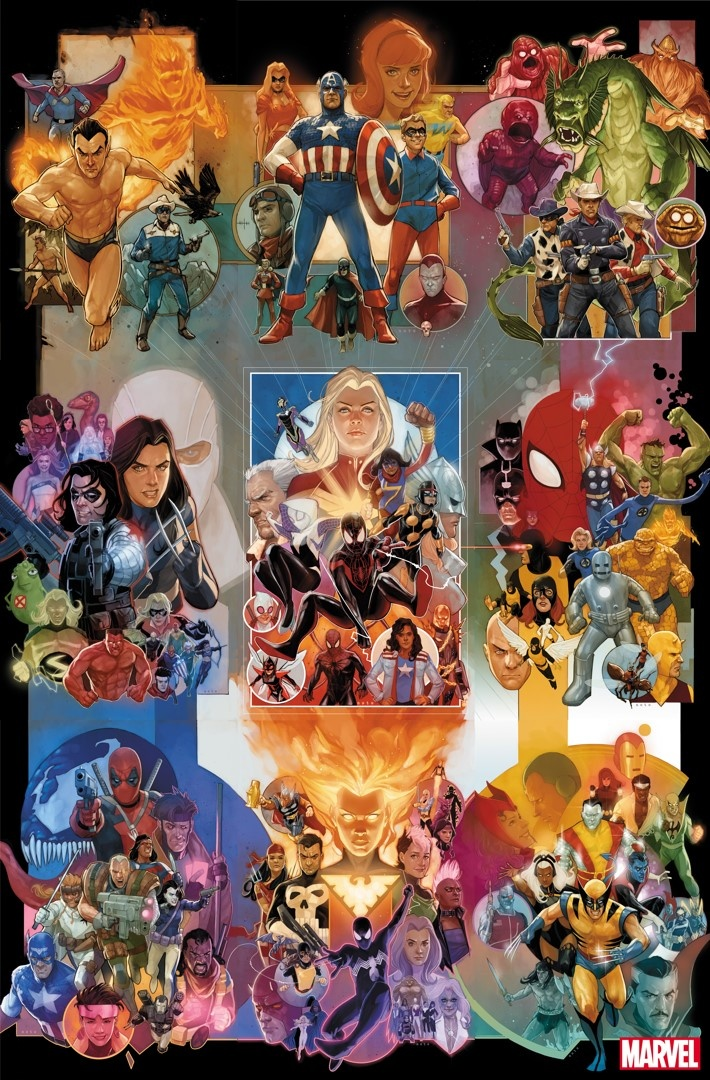 Marvel's 80th Anniversary variants by Phil Noto #1-#9