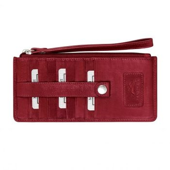 MANCINI RFID LADIES CREDIT CARD WALLET WITH WRIST STRAP