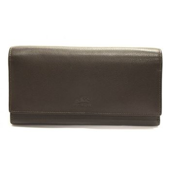 MANCINI 98-302 RFID LADIES 7 1/2 CLUTCH WALLET BROWN/COGNAC