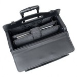 MANCINI WHEELED CATALOG CASE ON, BLACK (90458)