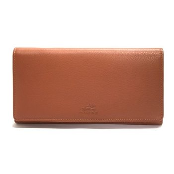 "MANCINI 98-304 RFID 7 1/2"" LADIES CLUTCH WALLET BROWN/COGNAC"
