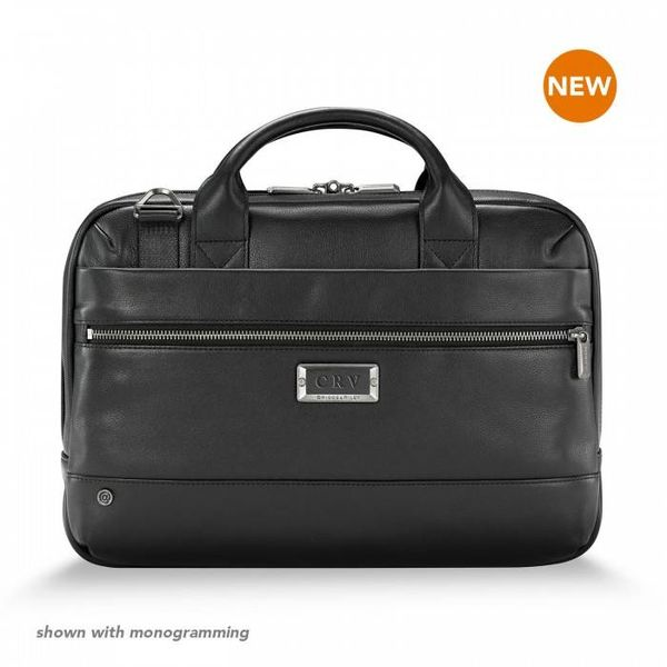 BRIGGS & RILEY @WORK LEATHER SLIM BRIEF BLACK (KLB410-4)