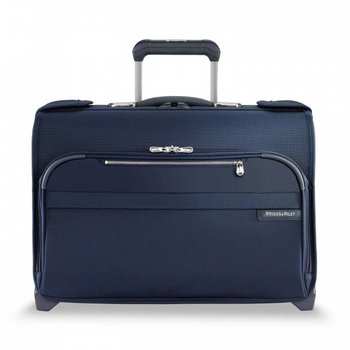 BRIGGS & RILEY BASELINE CARRY-ON WHEELED GARMENT BAG, NAVY (U174-5)
