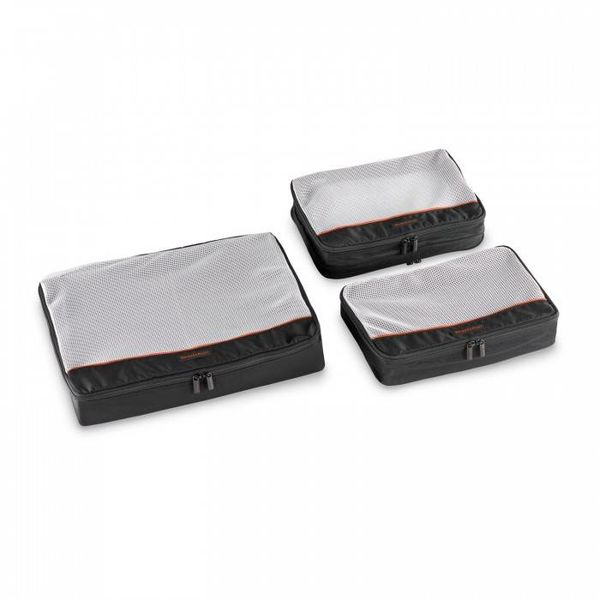 BRIGGS & RILEY CHECKED PACKING CUBE SET BLACK