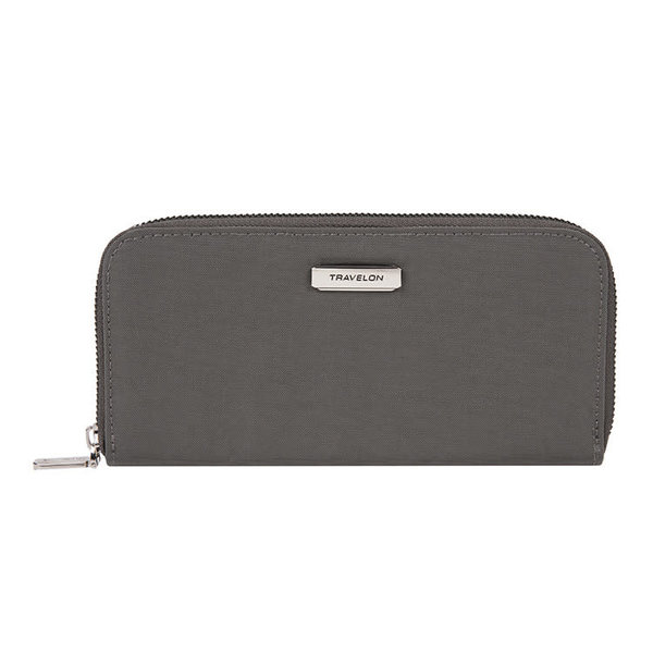 TRAVELON SINGLE ZIP WALLET