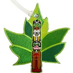 OSCARDO MAPLE LEAF EMBROIDERED LUGGAGE TAG