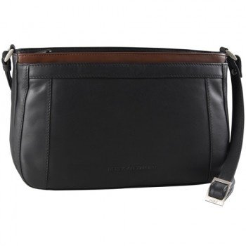 DEREK ALEXANDER LEATHER TRIPLE TOP ZIP ORGANIZER BAG (OB-9593)
