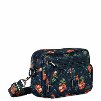 LUG CAROUSEL 3 MINI CROSS-BODY ALOHA NAVY