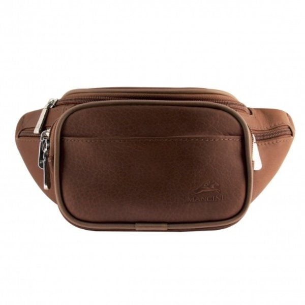MANCINI LEATHER WAIST BAG BROWN (98210)