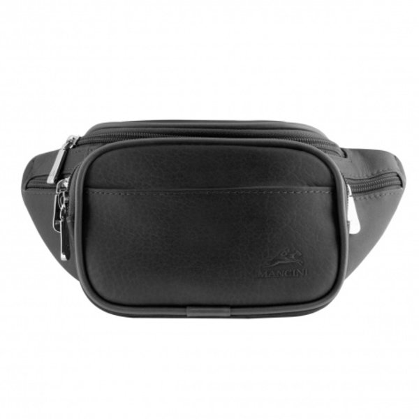 MANCINI LEATHER WAIST BAG BLACK (98210)