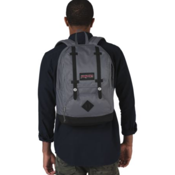 JANSPORT BAUGHMAN BACKPACK, DEEP GREY RIPSTOP (JS00T44A)