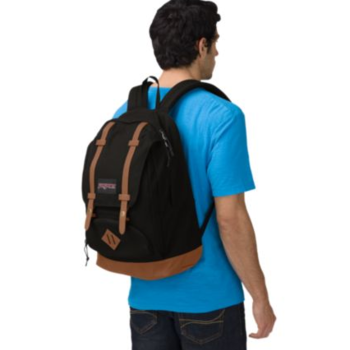 JANSPORT BAUGHMAN BACKPACK, BLACK CANVAS (JS00T44A)