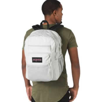 JANSPORT BIG CAMPUS BACKPACK, MICRO CHIP GREY (JS0A47K8)