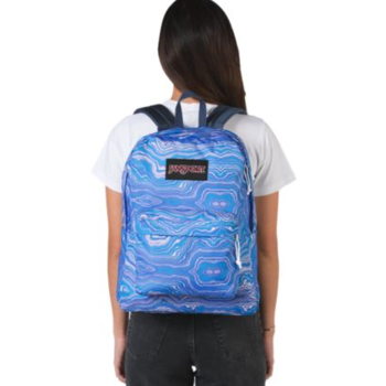 JANSPORT BLACK LABEL SUPERBREAK BACKPACK, BLUE GEODE LOAD (JS00TWK8)