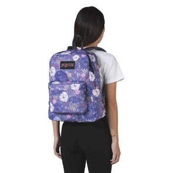 JANSPORT BLACK LABEL SUPERBREAK BACKPACK, BLUE LIANA VINES (JS00TWK8)