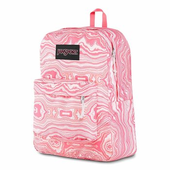 JANSPORT BLACK LABEL SUPERBREAK BACKPACK, PINK GEODE LOAD (JS00TWK8)