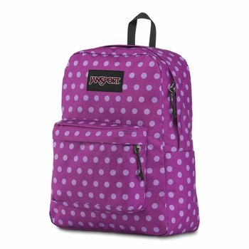 JANSPORT BLACK LABEL SUPERBREAK BACKPACK, PURPLE PLUM POLKA DOT (JS00TWK8)
